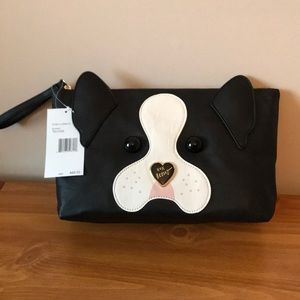 BETSEY JOHNSON DOGGIE COSMETIC/WRISTLET 48.00 NWT
